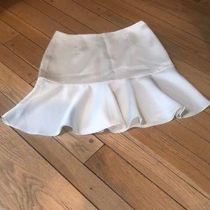 Ralph Lauren size 2 ecru plain polyester skirt